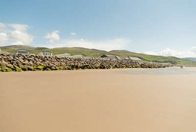 A view of the hills over Barmouth beach